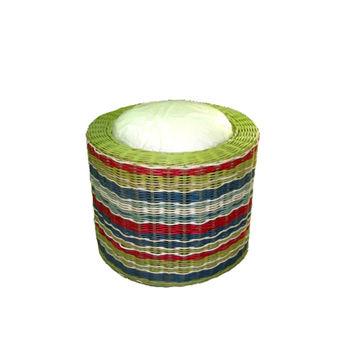 купить Круглый стул с мягкой подкладкой из ротанга 400x400x355 мм в Кишинёве
