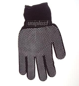 купить Перчатки нейлоновые с точками артU5 (черные/серые) в Кишинёве