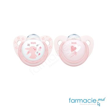 купить Suzeta NUK latex Baby Rose 6-18 luni in cutie (734012) в Кишинёве