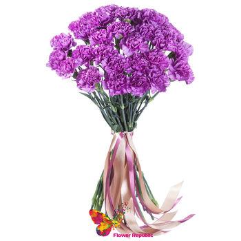 cumpără Buchet din 31 garoafii violet în Chișinău