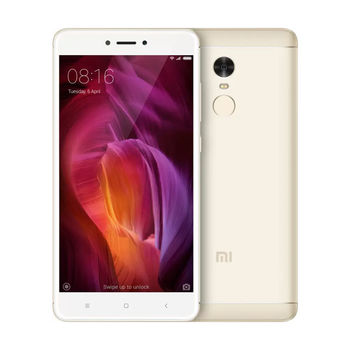"Xiaomi RedMi Note 4 16GB Gold,  DualSIM, 5.5"" 1080x1920 IPS, Mediatek MT6797, Deca-Core up to 2.1GHz, 2GB RAM, Mali-T880 MP4, microSD (SIM 2 slot), 13MP/5MP, LED flash, 4100mAh, WiFi-AC/BT4.1, LTE, Android 5.1 (MIUI8), Infrared port, Fingerprint"