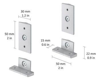 купить CLOS-IT набор зажимов для шкафа, серебряный в Кишинёве