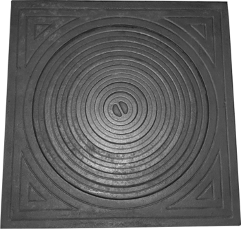 Плита с кольцами для печи 65*65 см d450
