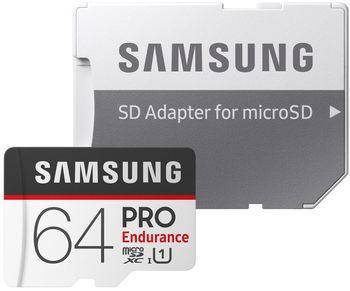 cumpără Samsung PRO Endurance 64GB MicroSD (Class 10). UHS-I (U3)+SD adapter, în Chișinău