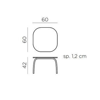 Столик ламинированный кофейный Nardi LOTO RELAX 60 ANTRACITE vern. antracite 44652.00.303 (Столик ламинированный кофейный для сада лежака террасы балкон)