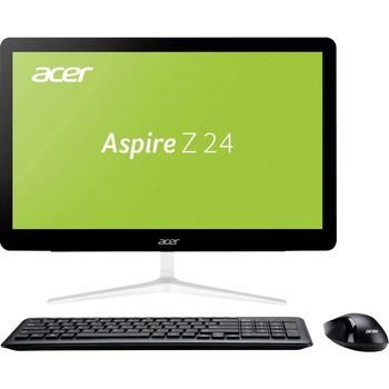 "All-in-One PC - 23,8"" Acer Aspire Z24-880 FullHD Multi-Touch +W10H(DQ.B8UME.003) Intel® Core® i3-7100T 3,4 GHz, 4GB DDR4 RAM, 256GB M2. SSD, DVD-RW, CR, Intel® HD Graphics, Wi-Fi, BT, Gigabit LAN, 135W PSU, Win10H SL Ru, Wireless KB/MS, Black/Silver"