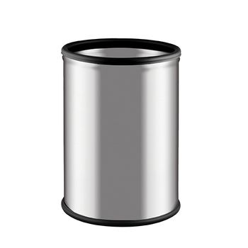 Мусорная корзинa Alda Room Basket, 9L, метал, белый