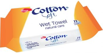 Șervețele umede Cotton Soft 72