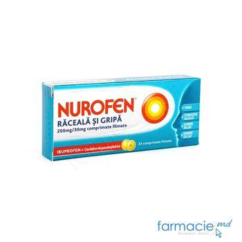 купить Nurofen® Raceala si Gripa comp. film. 200 mg + 30 mg  N12x2~ в Кишинёве