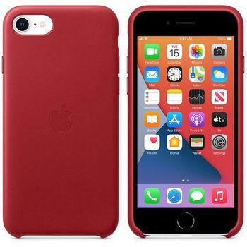 купить Apple Original Leather Case Iphone SE 2020, Product Red в Кишинёве