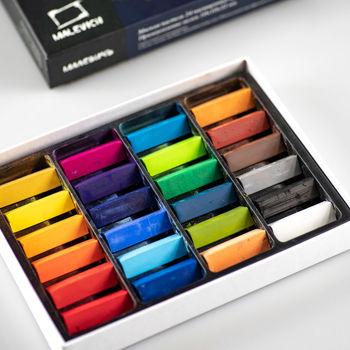 Пастель сухая художественная Малевичъ, 24 цвета