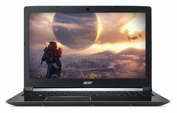 "ACER Aspire A715-72G Obsidian Black (NH.GXBEU.007)  15.6"" FullHD (Intel® Core™ i5-8300H 4xCore  2.3-4.0 GHz, 8GB (2x4) DDR4 RAM, 256 GB SSD, GeForce® GTX 1050 4GB DDR5, w/o DVD, WiFi-AC/BT, 4cell, 720P HD Webcam, RUS, Linux, 2.4kg)"