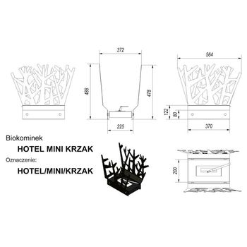купить Биокамин - HOTEL MINI KRZAK черный настольный/напольный в Кишинёве