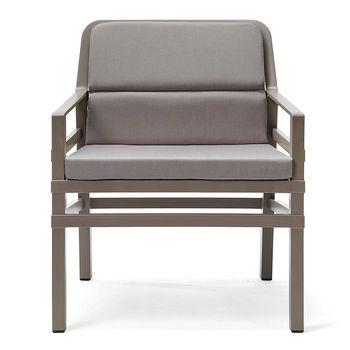 Кресло с подушками Nardi ARIA FIT TORTORA grigio 40330.10.163.FIT (Кресло с подушками для сада и терас)