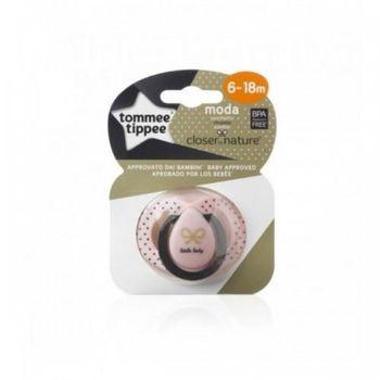 купить Tommee Tippee пустышка силиконовая Moda Girl, 6-18 мес. 1шт в Кишинёве