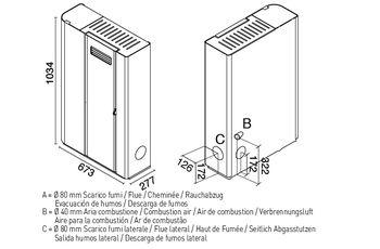 купить Печь пеллетная - SERENA 8 кВт в Кишинёве