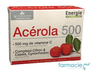cumpără Acerola (Vitamina C naturala) 500mg comp. masticab. N24 (3Chenes) în Chișinău