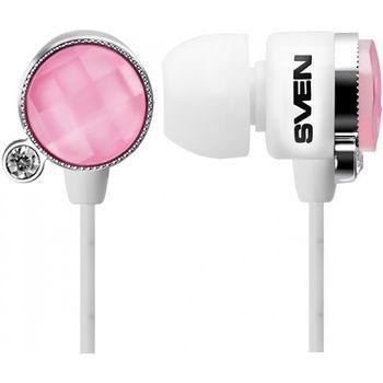 Наушники SVEN SEB-160 Glamor, Pink-White