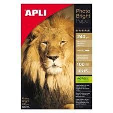 APLI Glossy paper 10x15, 180g/m2, 100f