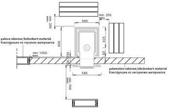 Печь для бани дровяная - Tulikivi KINOS 20 S1