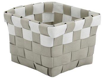 купить Корзина плетeнная 10X10X7.5cm серая с белым, пластик в Кишинёве