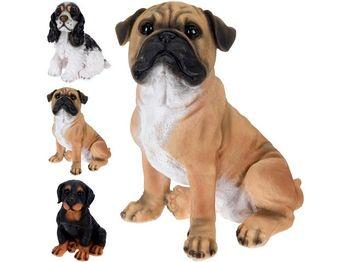 Собака декоративная 3 разных пород 27X18.5X17cm