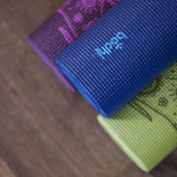 Коврик для йоги 183x60x0.4 см Leela 896 PVC BODHI (434)