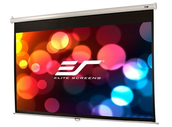 "Elite Screens 136""(1:1) 243,8x243,8cm Manual Pull Down Screen, White"