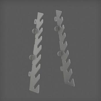 cumpără Set suport pentru chei pentru perete perforat 38x12x110 mm, argintiu în Chișinău