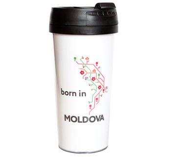 купить Кружка-термо – born in Moldova 2 в Кишинёве