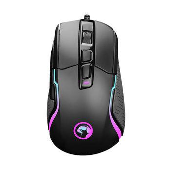 Mouse Gaming MARVO G957, 10000dpi adjustable, Optical sensor (Pixart), 7 programmable buttons, RGB, Advanced configuration, Braided cable, USB, Black