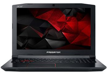 "ACER PREDATOR HELIOS PH315-51 Obsidian Black (NH.Q3FEU.009) 17.3"" FullHD IPS (Intel® Hexa-core™ i7-8750H 2.20-4.10GHz (Coffee L), 16Gb DDR4 RAM, 256Gb SSD/2.0TB HDD,GeForce® GTX1060 6Gb DDR5,CardReader,WiFi-AC/BT, 8cell, HD Webcam, RUS,Linux,2.70kg)"