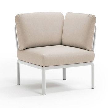 Кресло модуль угловой с подушками Nardi KOMODO ELEMENTO ANGOLO BIANCO-TECH panama 40374.00.131