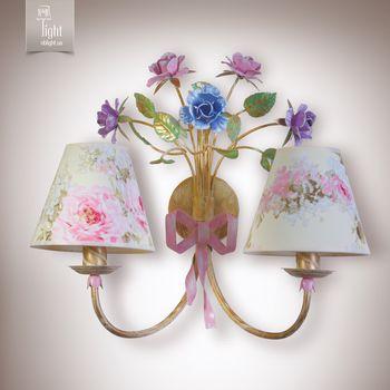 купить N&B Light Бра Романтика 6402-1 крем/розовый/сиреневый в Кишинёве