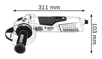 Углошлифовальная машина Bosch GWS 19-125 CIE (060179P002)