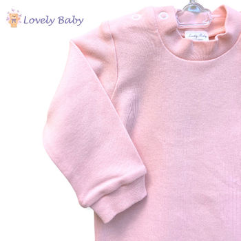 Боди с длинным рукавом розовый