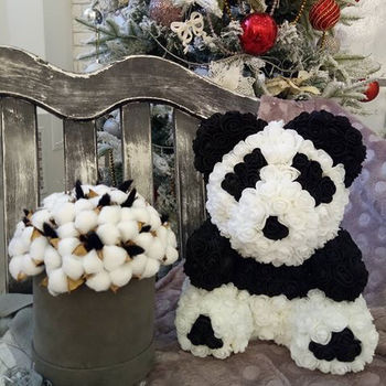 купить Панда из 3D   роз 40 см в Кишинёве