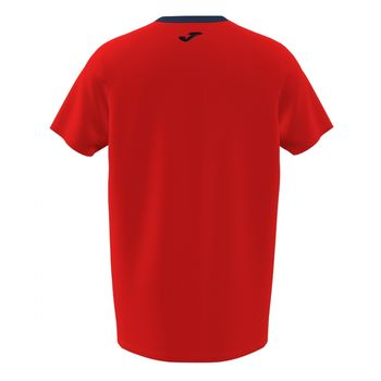 Футболка JOMA - SLEEVE T-SHIRT RED NAVY