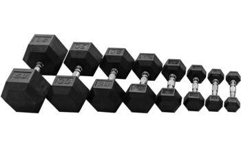 купить ГАНТЕЛИ RUBBER HEX-25 кг в Кишинёве