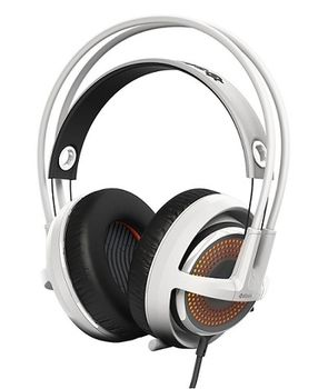 STEELSERIES Siberia 350 / Gaming Headset with Crystal-clear retractable Microphone, on the cord volume control, DTS Headphone:X 7.1 Surround Sound, 50mm neodymium drivers, Prism RGB Illumination, Cable lenght 1.5 m, USB, White