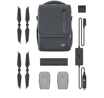 (174605) DJI Mavic 2 Fly More Kit - 2 x Batteries 3950 mAh, Car Charger, Battery Charging Hub, Battery to Power Bank Adapter, 2 Pairs x Low-Noise Propellers, Shoulder Bag, Compatible with Mavic 2 Pro and Mavic 2 Zoom