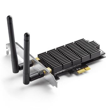 TP-LINK Archer T6E  AC1300 Wireless Dual Band PCI Express Adapter, 867Mbps on 5GHz + 400Mpbs on 2.4GHz, 802.11a/b/g/n/ac, 2 Dual Band detachable аntennas