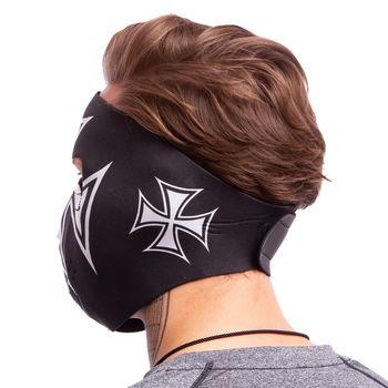 cumpără Masca protectie fata /antrenament alergare/ windproof MS Iron Cross (neopren, black) (3836) în Chișinău