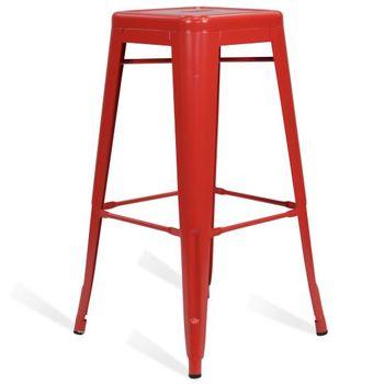 купить Металлический стул 490x490x1260 мм, красный в Кишинёве