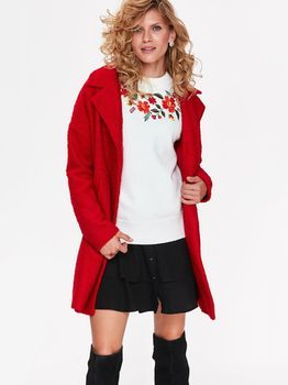 Pulover TOP SECRET Alb cu imprimeu SSW2600BI