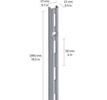 cumpără Profil perete perforație simplă 1995 mm, gri în Chișinău