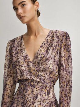 Платье Massimo Dutti Фиолетовый с принтом 6662/867/629
