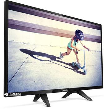 "купить ""32"""" LED TV Philips 32PFS4132/12, Black (1920x1080 FHD, PPI 200 Hz, DVB-T/T2/C/S2) (32"""", 81 cm, Black, Full HD, PPI 200Hz, 2 HDMI, 1 USB  (foto, audio, video, USB recording), DVB-T/T2/C/S2, OSD Language: ENG, RO, Speakers 16W, 4.9 Kg, VESA 100x100)"" в Кишинёве"