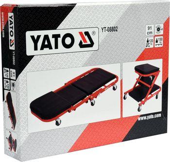 купить Лежак автослесарный подкатной 2 в 1 Yato YT-08802 в Кишинёве