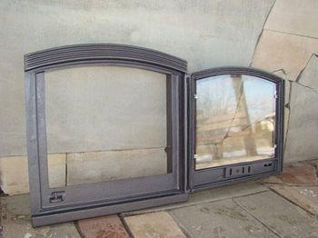 Дверца чугунная со стеклом правая ARKA